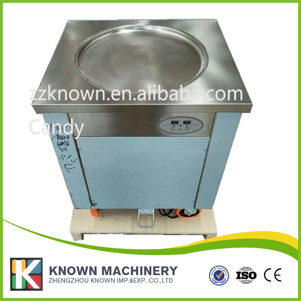 Temperature can be set 110/220V fried ice cream machine/single pan fry ice pan /ice cream frying machine|Ice frying machine