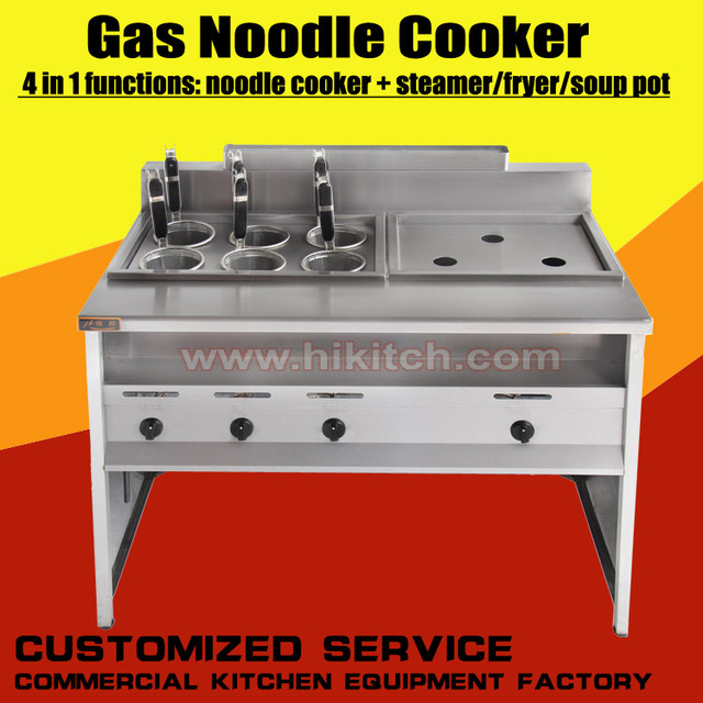 Mac Commercial Two In One Kitchen Gas Pasta Hot Pot Noodle Dumplings Cooker