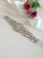 Gratis verzending prachtige handgemaakte riem kristal strass kralen tsjechische stenen bruidsjurk sash formele trouwjurk riem RA232
