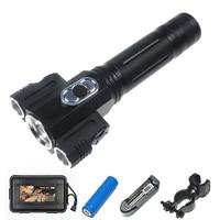 XML T6 2xQ5 Bulb 3 LED Flashlight 5000 Lumens 180 Degree Adjustable Tactical Torch Magnet Working