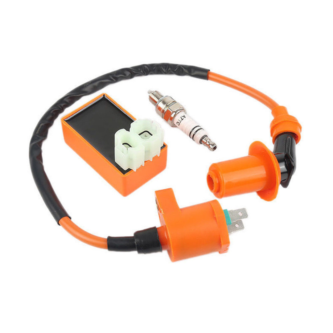 Image 5 - Motorbike Ingition Set 1pc Racing CDI + Spark Plug + Ignition Coil Kits For GY6 50/125/150CC 4 stroke Scooter Parts-in Motorbike Ingition from Automobiles & Motorcycles