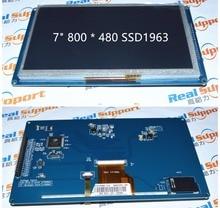 "7 ""7 inç TFT LCD modülü 800x480 SSD1963 Dokunmatik PWM AVR STM32 KOL"