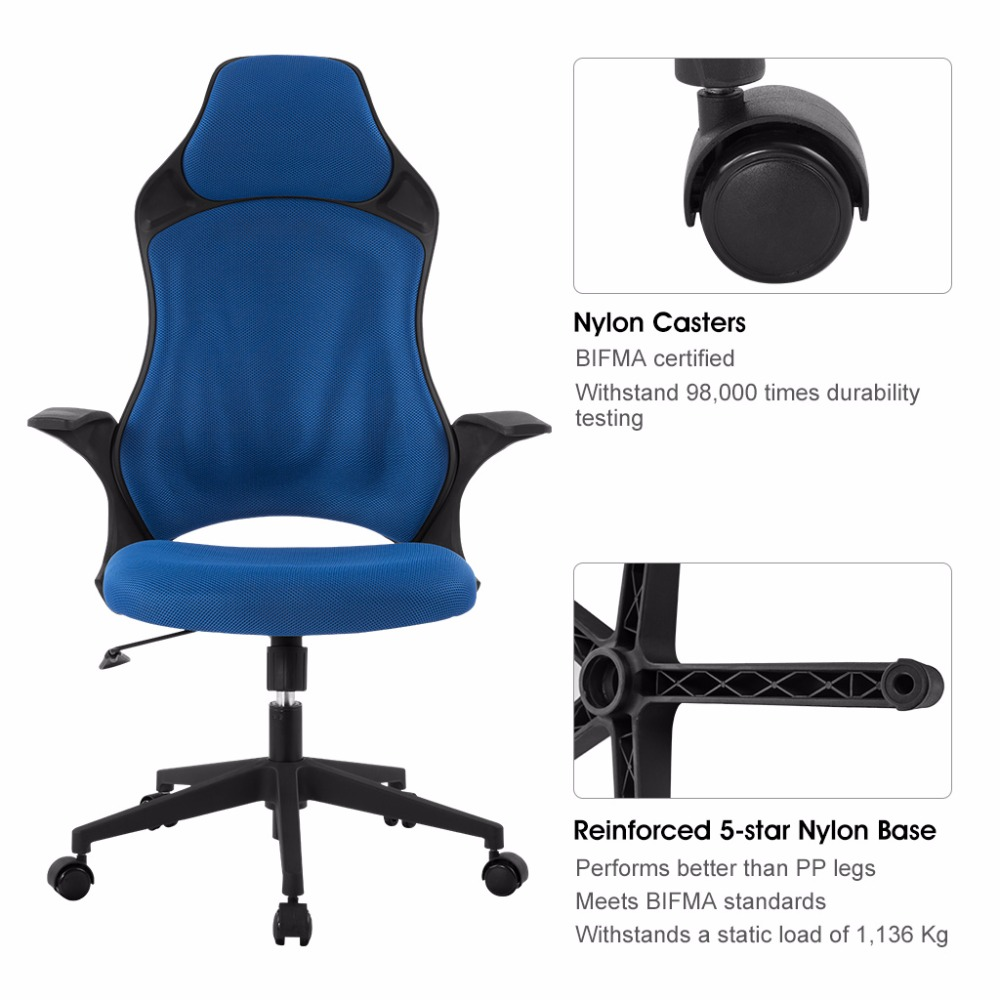 Ergonomischer Stuhl Us 72 99 27 Off Ergonomische High Back Mesh Büro Executive Gaming Stuhl 360 Grad Swivel Mit Knie Blau Bürostuhl In Ergonomische High Back Mesh