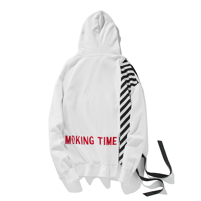 Man Si Tun Fashion Brand Hoodies Men's 2017 Summer New Loose Hoodies Hip Hop Style Long Sleeves Striated Pullover Hooded