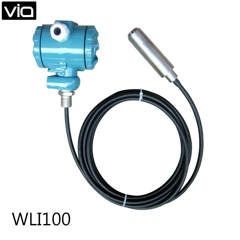WLI100 Free Shipping 4-20mA Level Transmitter Electrical Immersion Hydrostatic Liquid Level Sensor Instrument