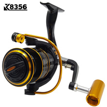 K8356 Fishing Spinning Reel GH1000~GH6000 13BB 5.2:1 Carp Fishing Reel  Metal Line Cup Left/Right Handle Saltwater Fishing Reel