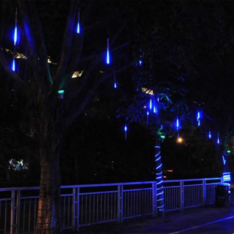 Светодиодный солнечный светильник Метеоритный дождь Дождь огни Открытый водостойкий Рождественский солнечный свет для свадебной вечеринки украшения