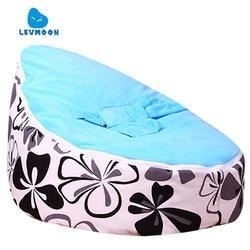 Levmoon Средний Ewha принт кресло мешок детская кровать для сна портативный складной детское сиденье диван Zac без наполнителя