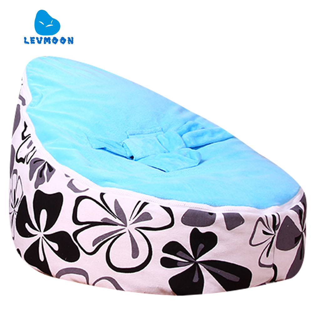 Levmoon Medium Ewha Print Bean Bag Chair Kids Bed For Sleeping Portable Folding  Child Seat Sofa Zac Without The Filler levmoon medium blue circle print bean bag chair kids bed for sleeping portable folding child seat sofa zac without the filler
