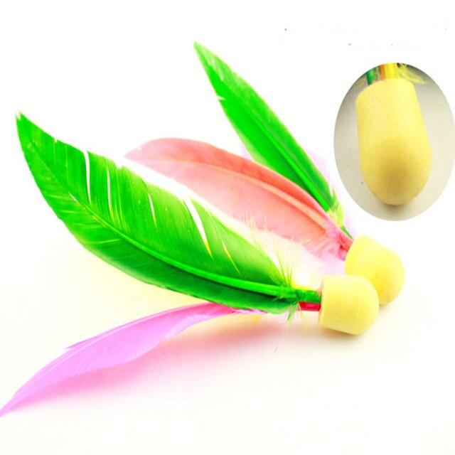 New Arrive  wholesale price  Beach Entertainment Hand Feather ball Shuttlecock Jian ball Cricket Ball