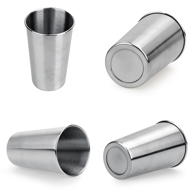 Stainless Steel Pint Cups LargeSmall Durable Kids Cup Metal Tumblers Juice Cocktail Iced Tea Cup Home Bar Camping Drinking Mugs (7)
