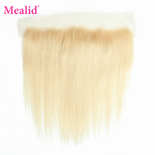 """Mealid 613 Brazilian Straight Hair Pre Plucked 13x6 Lace Frontal Closure With Baby Hair 10""""-20"""" remy Human Hair Closure"""
