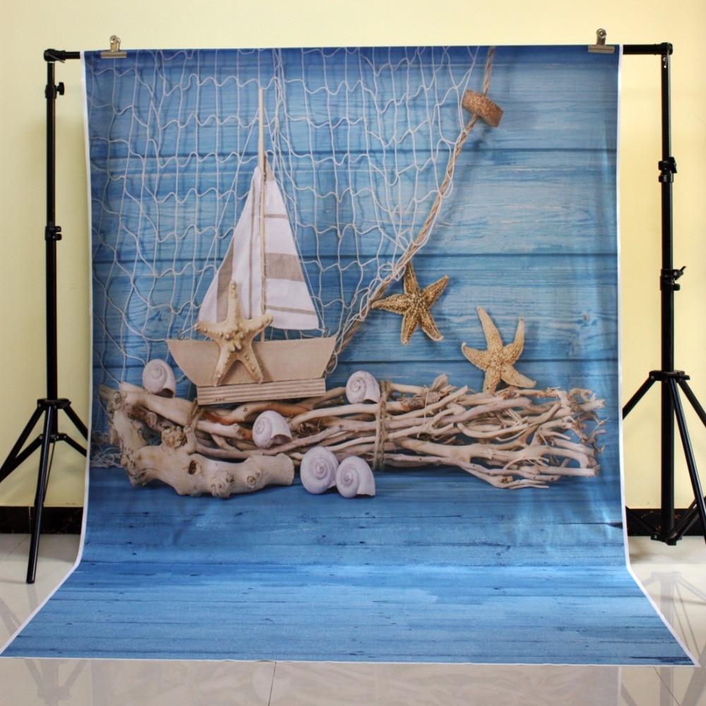 HUAYI Blue Sea Photography Backdrops Vinyl Photo Studio Fishing Nets Backdrop Photo Background XT-3610 shanny new year backdrop vinyl custom photography backdrops prop photo studio background xn281