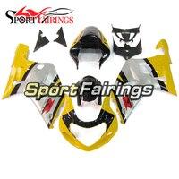 Full Injection Fairings For Suzuki GSXR600 750 00 01 02 03 2000 2003 K1 Plastic Motorbike Fairing Kit ABS Silver Yellow Panels