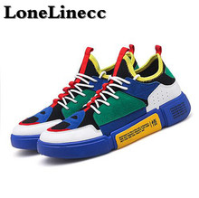 цена на LoneLinecc Men Running Shoes Mesh Outdoor Breathable Flywire Sports Jogging Athletic Sneakers Male Footwear Deportiva Hombre
