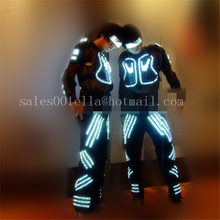 Led Dance Performance Stage Clothes Full-body Led Costume Luminous Light Up Robot Suit For Men Free Shipping