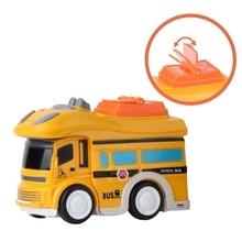 лучшая цена 3Pcs City Bus Inertial Cars Kids Toys Car Model Vehicles Baby Toy Layout Landscape Gift Boy Diecasts Toy Vehicles