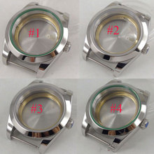 40mm sterile sapphire glass automatic men Watch Case fit 2836 8215 821A 8205 Movement 40mm parnis sapphire glass steel watch case eta 2836 miyota 8205 8215 movement