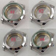 цена 40mm sterile sapphire glass automatic men Watch Case fit 2836 8215 821A 8205 Movement онлайн в 2017 году