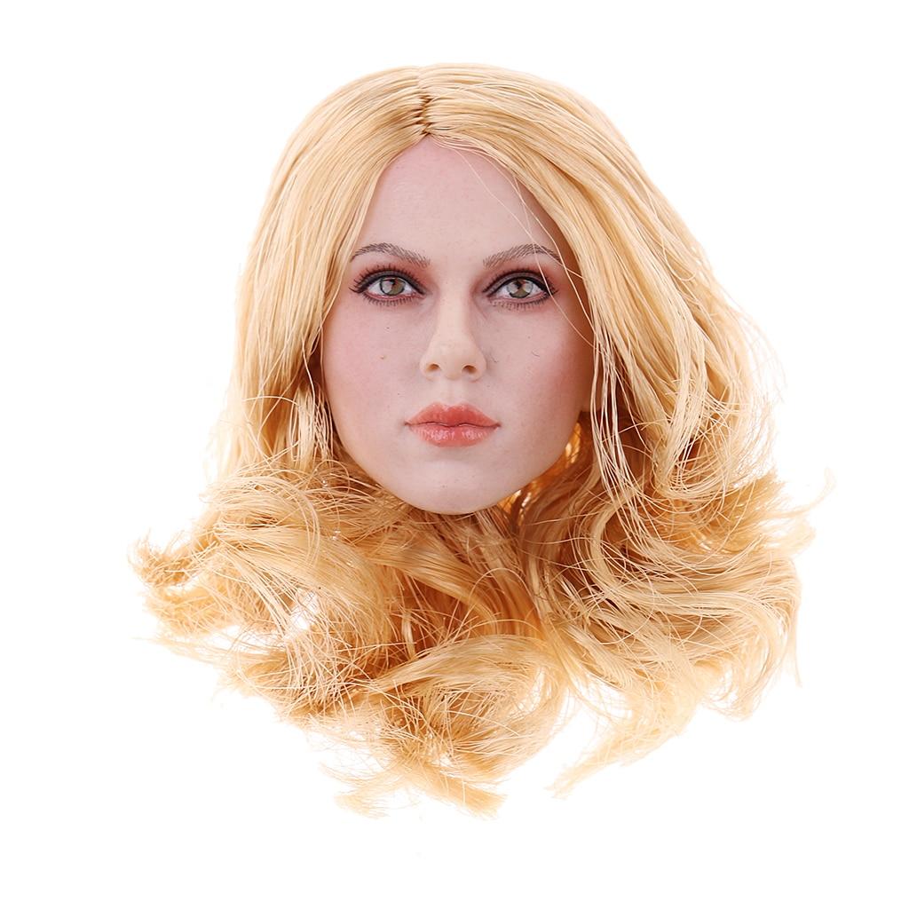 1/6 Female Body Short Curly Hair Head Sculpture Rubber for 12'' TTL Enterbay Doll Figure фанатская атрибутика nike enterbay rodman