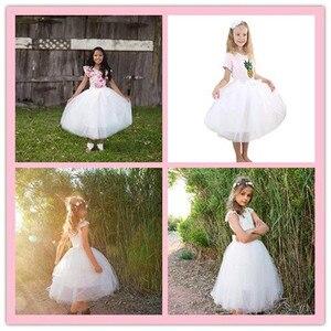 Image 4 - Рождественские фатиновые юбки для девочек, длинные юбки пачки принцессы с эластичным поясом, шифоновое детское бальное платье, одежда для девочек, детская одежда