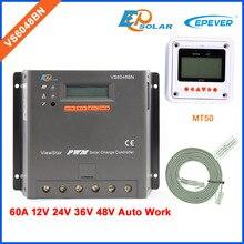 60A EPEVER חדש ViewStar סדרת שמש כוח בנק בקר עבור קטן בית מערכת VS6048BN MT50 מרחוק מטר LCD תצוגת מסך