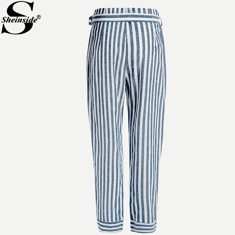 HTB1Dj19bnAKL1JjSZFCq6xFspXaV - Striped Pants With Bow PTC 208