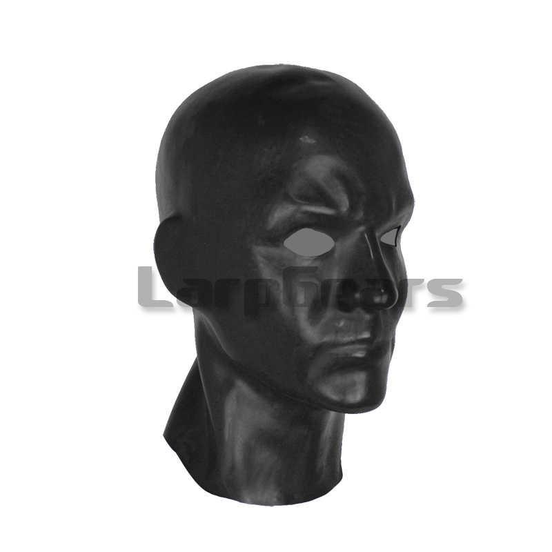 Резиновая латексная мужская маска для лица 3D литая латексная маска человека (подходит 59-63 см) открытые глаза