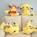 Pocket Monster Pokemon jigglypuff плюшевые игрушки Пикачу snorlax двусторонняя печать подушку