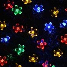 Energía Solar Luces de Hadas de Cuerda 7 M 50 LED LederTEK Peach Blossom Decorativa Jardín de Césped Patio Árboles De Navidad Del Banquete de Boda