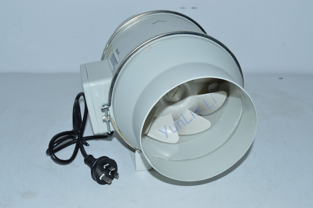 Inclined Flow Turbo-Charged Pipe Fan HF-150P 6 Inch Strong Ventilation Exhaust Fan Circular Pipe Blower Machine