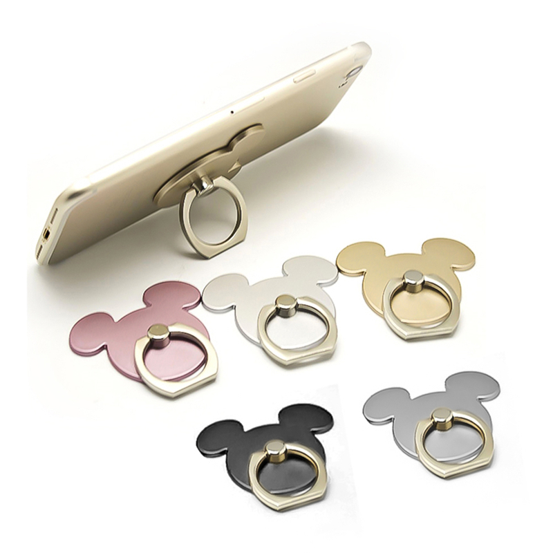 360 Degree Mouse Shape Finger Ring Mobile Phone Holder Stand For iPhone 5 5s 6 6