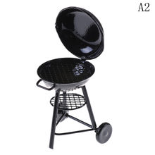 1/12 Scale Metal Kitchen BBQ Grill Miniature Ornaments Doll House Gadget Food Kitchen Toy(China)