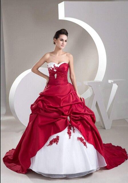 Vestido de novia Nuevo Amor Appliques Tafetán Balón vestido vestido ...