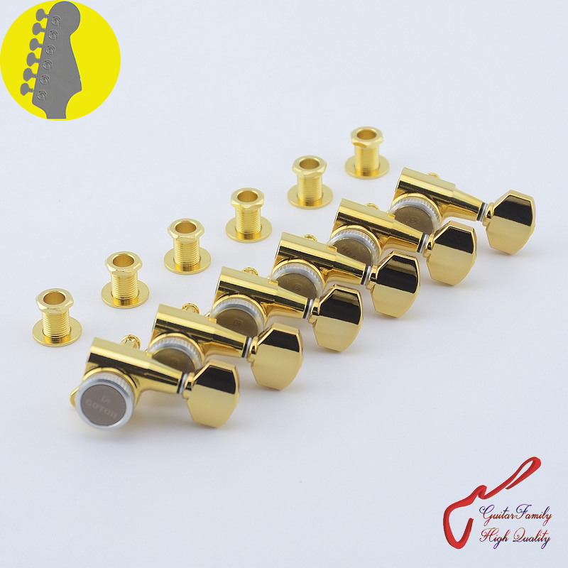 Genuine Original 6 In-line GOTOH SG381-07-MGT Guitar Locking Machine Heads Tuners ( Gold ) MADE IN JAPAN original genuine gotoh rg105