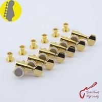 Genuine Original 6 In Line G GOTOH SG381 07 MGT Guitar Locking Machine Heads Tuners Gold