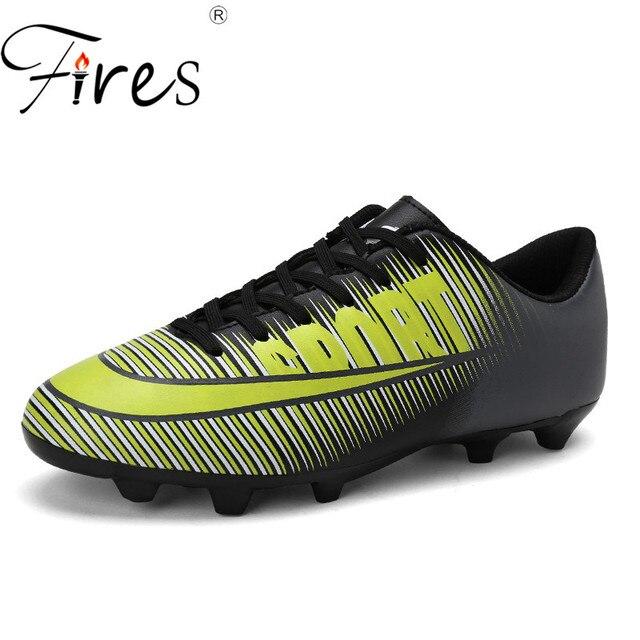 Incêndios Sapatos de Marca do Futebol Dos Homens Longo Spikes Profissionais  Calçados Esportivos Ao Ar Livre fc85d06893615