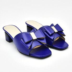 Image 2 - Chaussures de mariage africaines, chaussures de grande taille, décorée avec strass, chaussures de soirée nigériane pour femmes, nouvelle collection sans lacet