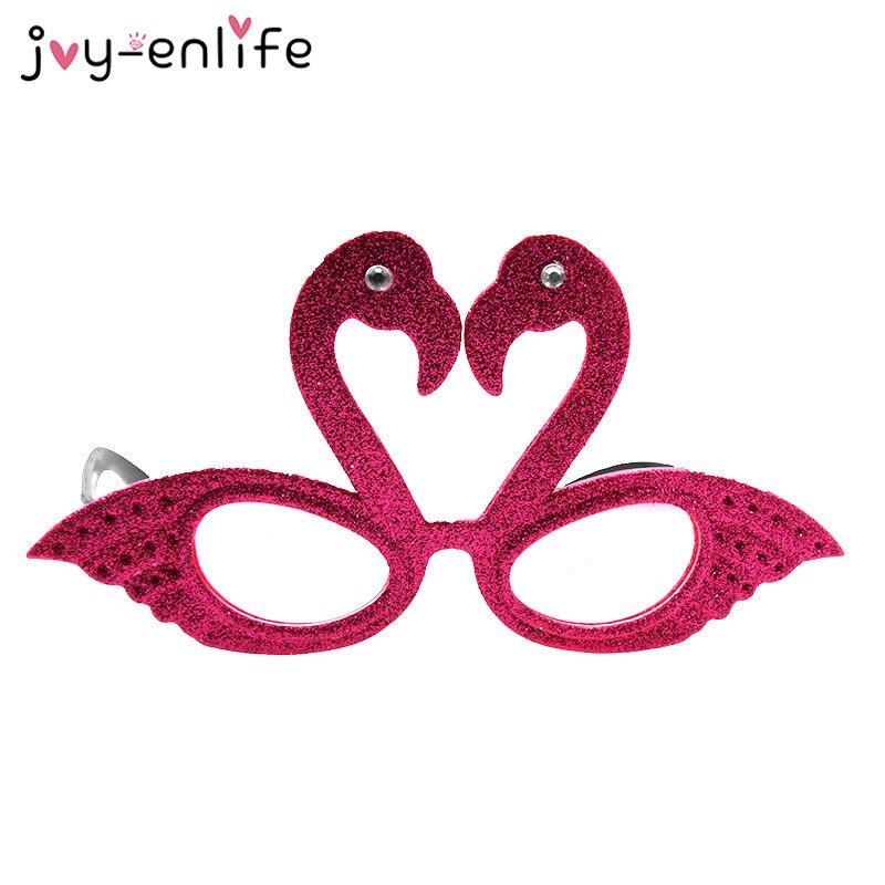 JOY-ENLIFE 1 unids Divertido Rosa/rojo de la Rosa Flamingo Estilo gafas de Sol para Despedida de Soltera Fuentes Del Partido de Cumpleaños y Fiestas Decoración