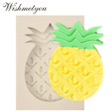 WISHMETYOU DIY A Pineapple Shape Silicone Soap Mold Bread Jelly Pudding Ice Pineapple Shape Sugar Cake Silicone Mold Handmade kitchen plastic pineapple style bread mold coffee