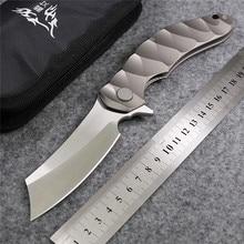 Magic OEM Chav Custom Large steel ball bearing Folding Knife D2 Titanium Camping Hunting Survival Knives Outdoor EDC Tools