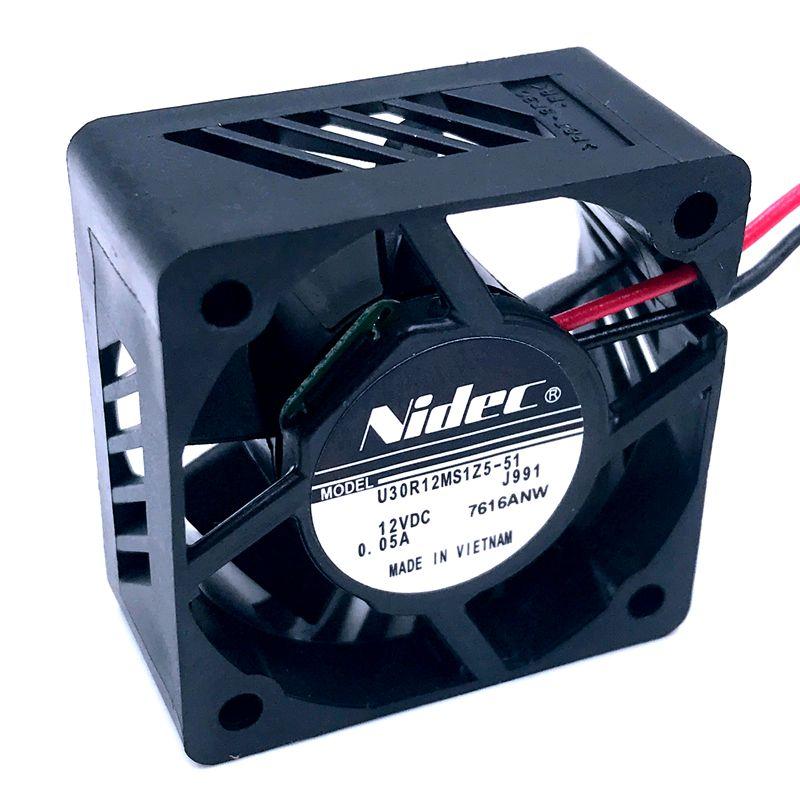 Imprimante 3D ventilateur 30mm ventilateur nouveau pour Nidec U30R12MS1Z5-51 30*30*15mm 12V 0.05A silencieux grand flux dair ventilateur de refroidissement 3CM 7200 tr/min 4.8CFM