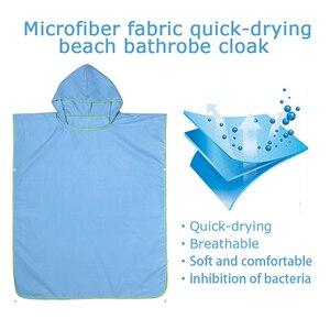 Image 5 - Zipsoft Poncho de microfibra con capucha para nadar, bata de secado rápido, Poncho para Surf en la playa, traje de neopreno ligero compacto con capucha