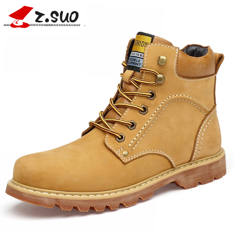 Big Size:38-48 Winter Boots Men Genuine Leather Work&Safety Ankle Boots Spring Natural Leather Winter Shoes Winter Warm Boots цены онлайн