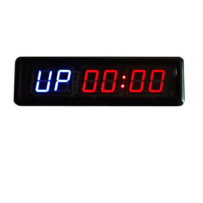 1.8'' LED Countdown Clock Interval Wall Clock For MMA Box Tabata Crossfit Timer