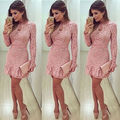 Fashion Bodycon Lace Dress Women Ladies Sexy Spring Mini Office Dress Size6- 14