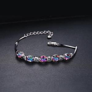 Image 2 - JewelryPalace Natural Mystic Topaz 925เงินสเตอร์ลิงสร้อยข้อมือเทนนิสอัญมณีสร้อยข้อมือผู้หญิงเงิน925ทำ