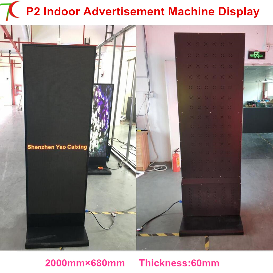 China Mainland Manufacture Sale Indoor Full Color Metal Advertisement Manchine Led Poster