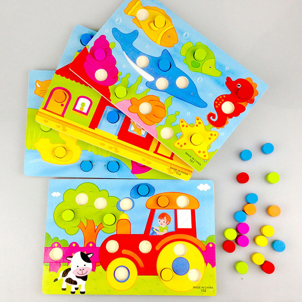 4 Styles Cartoon Wooden Early Learning Educational Creative Toy Tangram Jigsaw Board Kid Wood Puzzle For Children Toy Gift