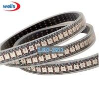 Mejor Precio 1 M 144 pixel WS2812B luz LED WS2811 IC SMD 5050 RGB LED WS2812 negro/blanco PCB 5 V LED tira impermeable Luz